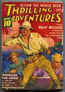 Thrilling Adventures Pulp September 1939- Malay Massacre- Club Fist