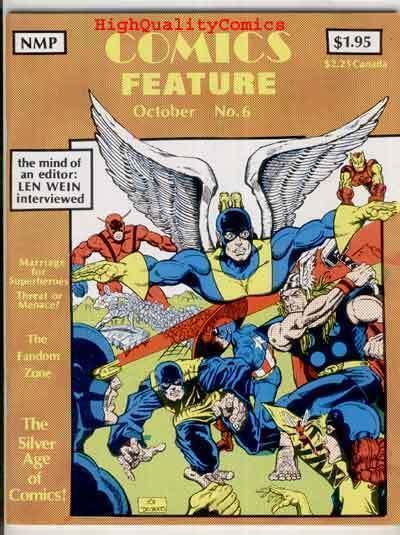 COMICS FEATURE #6, VF, X-Men vs Avengers, Len Wein, 1980, Fandom Zone