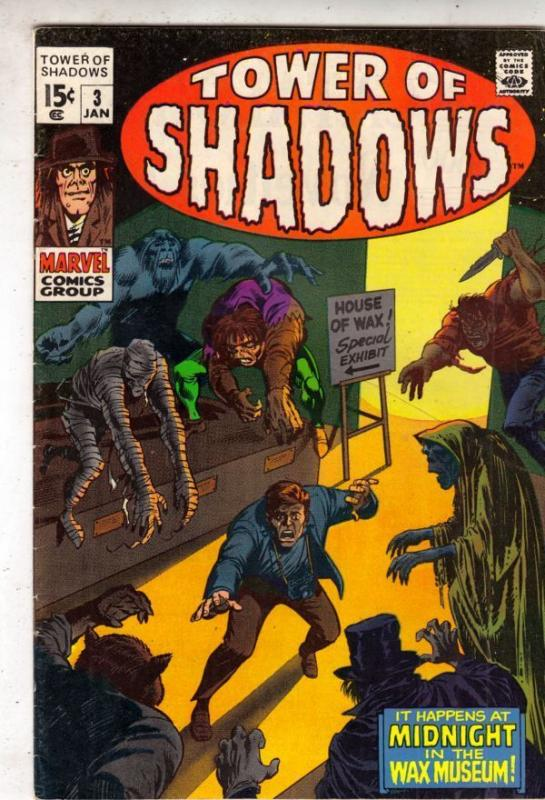 Tower of Shadows 3 strict VF/NM+ 9.1 1970 Wythville Pedigree Tons Of Horror Just