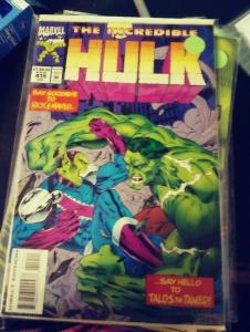 incredible hulk  # 419 1994  MARVEL ,  TALTOS  the tamed +CAPTAIN MARVEL  movie