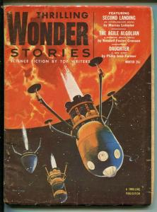 THRILLING WONDER STORIES WINTER 1954-SCI-FI PULP-JACK COGGINS-FARMER-good