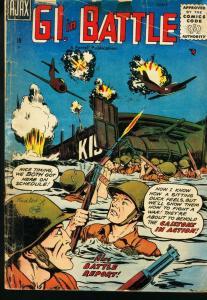 G I IN BATTLE #2 AJAX FARRELL 1957 PARACHUTE STORIES VG