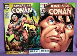 50 Years of Conan at Marvel KING-SIZE CONAN #1 Variant Covers (Marvel, 2021)!
