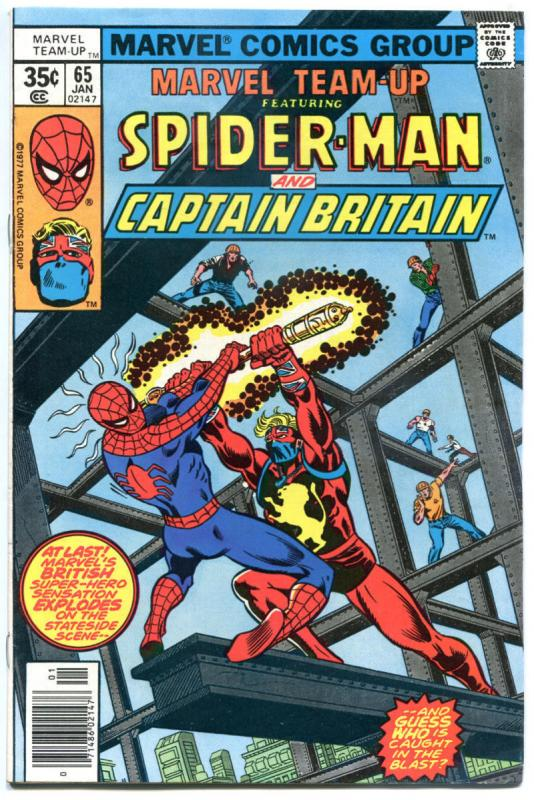 MARVEL TEAM-UP #65, 67 68 69 70, FN/VF, Spider-Man, Captain Britain, 1972, 5 iss