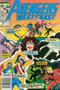 Avengers West Coast #49, VF+ (Stock photo)