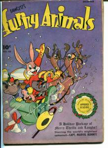 Fawcett's Funny Animals #45 1946-Hoppy The Marvel Bunny--Christmas-VG/FN