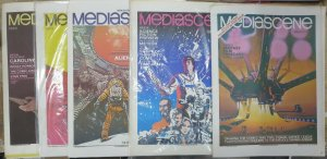 STERANKO'S MEDIASCENE COLLECTION! 5 issues. Features Galactica, Bond,Bradbury