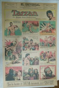 Tarzan Sunday Page #610 Burne Hogarth from 11/15/1942 in Spanish! Full Page Size