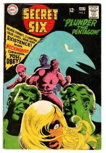 SECRET SIX #2 comic book-DC-MOCKINGBIRD-PLUNDER THE PENTAGON fn