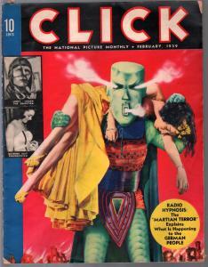 Click  2/1939-radio hypnotism-cheesecake pix-Nazi art-Walt Disney-Donald Duck-VG