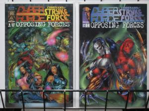 CYBERFORCE/CODENAME:STRIKEFORCE- OPPOSING FORCES(Image, 1995) #1-2  COMPLETE!