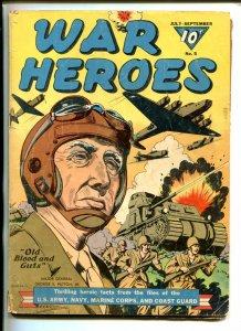 WAR HEROES #5-1943-DELL-GEN PATTON-FDR-GUADALCANAL-WWII-good/vg