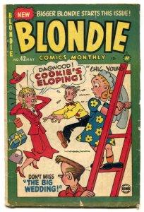 Blondie Comics #42 1952- Harvey Golden Age G/VG