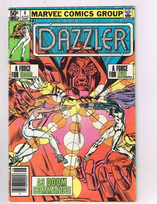 Dazzler #4 VF Marvel Comics Comic Book Dr Doom Jun 1981 DE42