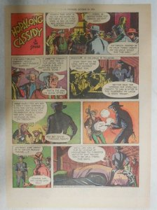 Hopalong Cassidy Sunday Page by Dan Spiegle from 10/11/1953 Size: 11 x 15 inches