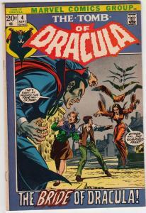Tomb of Dracula #4 (Sep-72) VF+ High-Grade Dracula