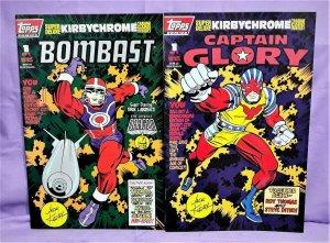 Jack Kirby TOPPS COMICS 2-Pack Bombast Captain Glory Steve Ditko (Topps, 1993)!