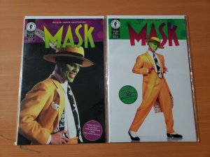 THE MASK 1-2 Complete Set Run! ~ NEAR MINT NM ~ 1994 Dark Horse Comics