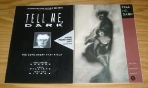Tell Me, Dark OGN VF/NM love story that kills + special promotional copy RARE!