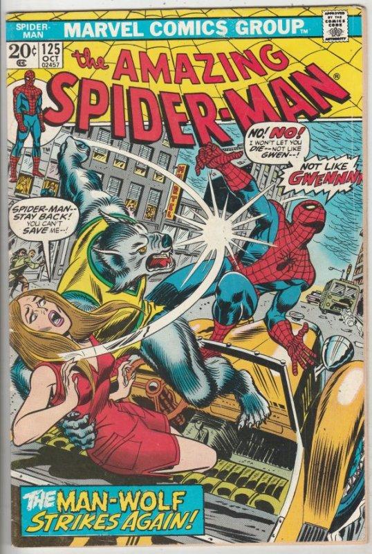 Amazing Spider-Man #125 (Oct-73) FN/VF Mid-High-Grade Spider-Man