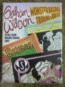 GAHAN WILSON MONSTER BASEBALL TRADING CARD SET. 10 cards by New Yorker Genius