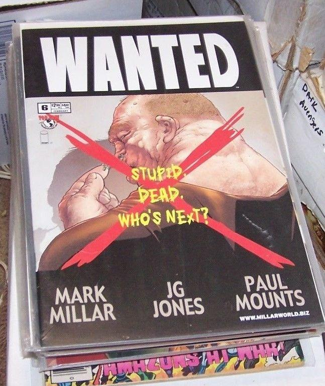 wanted-  comic #6     image movie top cow  mark millar
