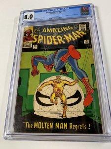 Amazing Spider-man 35 Cgc 8.0 Silver Age Molten Man Marvel