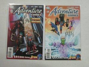 Adventure Comics (2010 2nd Series), SET:#518-519, 8.0/VF, SIGNED B4 : PNL LEVITZ