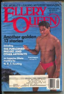 Ellery Queen 9/1988-Greg Louganis-hard boiled crime pulp-G/VG