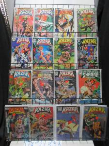 Kazar the Savage (Marvel 1981) #1-26 Lot of 16Diff Jungle Action and Thrills!