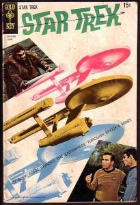 STAR TREK-#4-GOLD KEY-WILD COVER!-COLORFUL! G