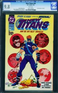 New Titans #99- CGC 9.8-first Arsenal-key Issue-nightwing- 0241120023