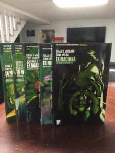 Brian K Vaughn's Ex Machine Hardcover HC Tpb Set 1 2 3 4 5 All Mint TPB