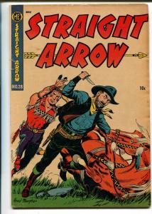 Straight Arrow #28 1953-ME-Red Hawk-Bob Powell-Fred Meagher-VG+