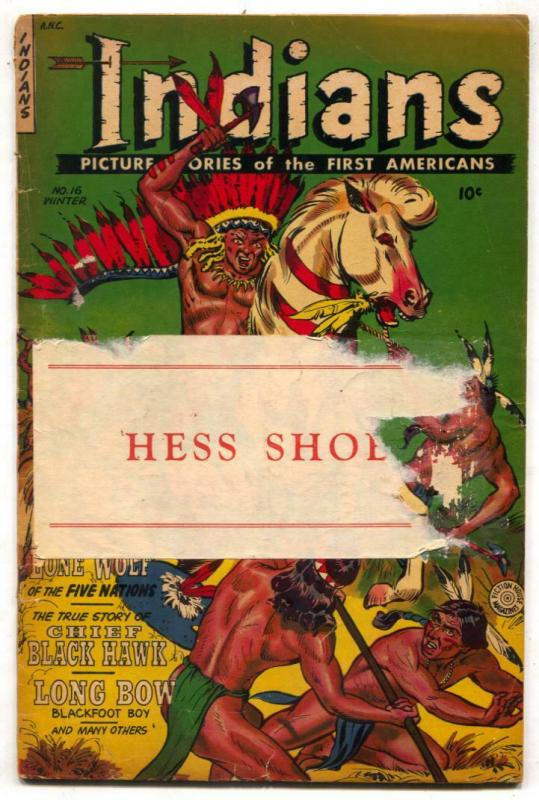 Indians Comics #16 1952- Fiction House Western G/VG