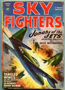 Sky Fighters Pulp Summer 1948- Tangled Wings- Jonahs of the Jets