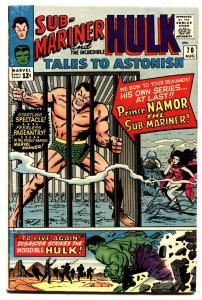 TALES TO ASTONISH #70 comic book 1965- HULK & SUB-MARINER BEGIN