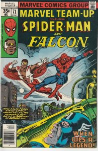Marvel Team Up(vol. 1) # 71 Spiderman and The Falcon !