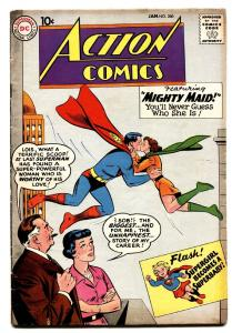 ACTION COMICS #260 comic book Superman kissed his cousin weird issue-DC 1960