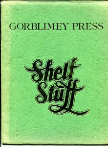 Shelf Stuff 1975-Gorblimey Press-Barry Windsor Smith-1st edition-Green Cover-VG