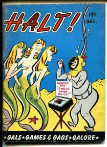 Halt! 12/1946-Crestwood-mermaid cover-spicy gags & cartoons-VG-