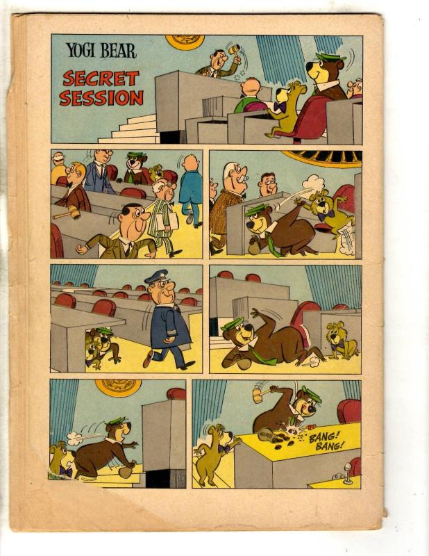 Four Color # 1349 FN Dell Silver Age Comic Book Yogi Bear Visits The U.N. JL18