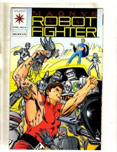 Lot Of 5 Magnus Robot Fighter Valiant Comic Books # 9 10 11 14  JF11