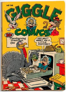 GIGGLE COMICS #36 (Nov-Dec 1946) VG+ Dan Gordon Superkatt Cover! Hultgren, Karp!