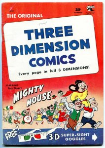 Mighty Mouse -Three Dimension Comics #2 1953 St John Golden Age VG