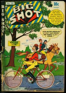 Big Shot #58 1945- bicycle cover- Charlie Chan- Sky Man- Palooka FAIR