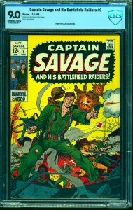 Captain Savage and His Battlefield Raiders #9 CBCS VF/NM 9.0 Off White to White