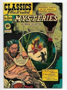 Classics Illustrated #40 Mysteries By Edgar Allan Poe VF+ HRN 92 Pit & Pendulum