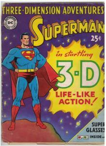 SUPERMAN 3-D ADVENTURES (1953) loose page no glasses