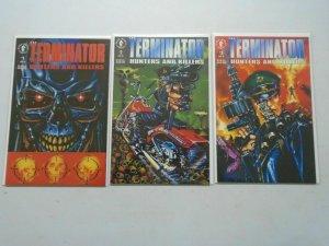 Terminator Hunters and Killers set #1-3 8.5 VF+ (1992 Dark Horse)